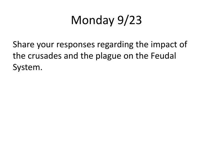 Monday 9/23
