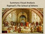s ummary visual analysis raphael s the school of athens