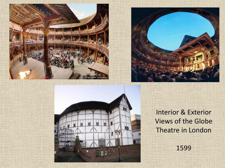 Interior & Exterior Views of the Globe Theatre in London