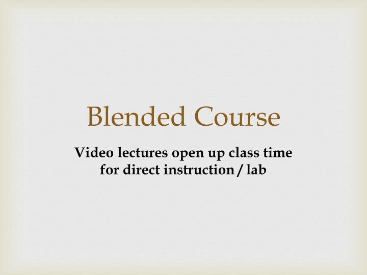 Blended Course