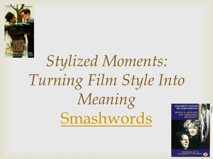 Stylized Moments: Turning Film Style Into Meaning