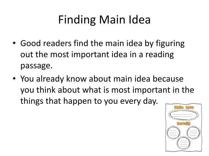 Finding main idea