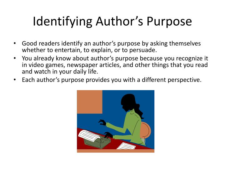 Identifying Author's Purpose