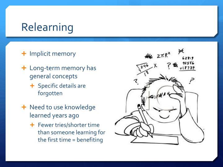 Relearning