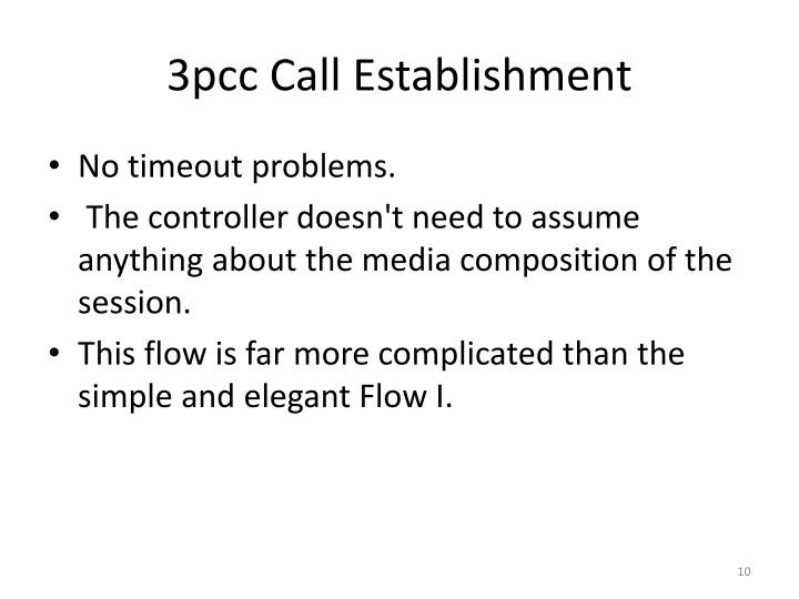 3pcc Call Establishment