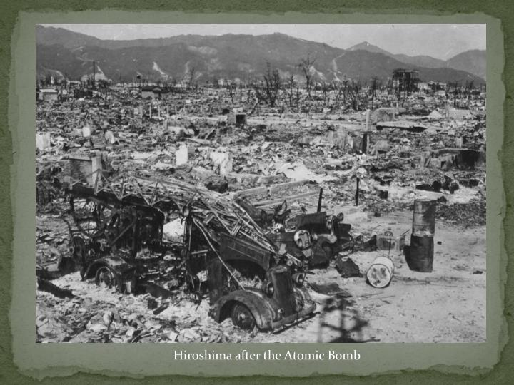 Hiroshima after the Atomic Bomb