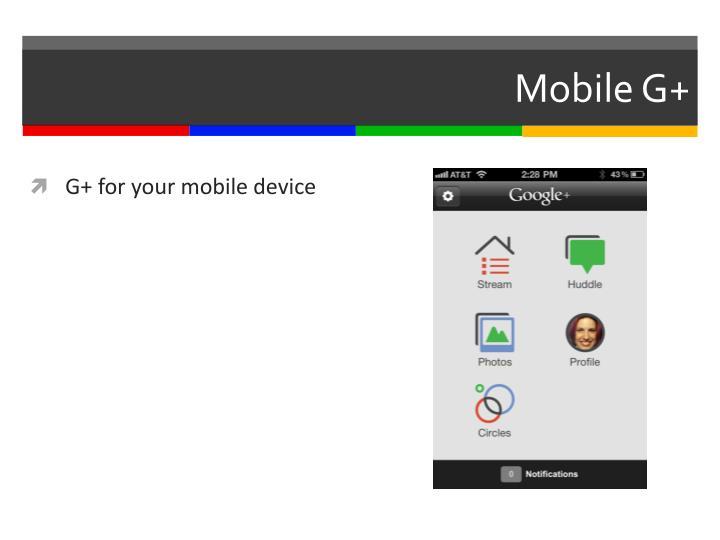 Mobile G+