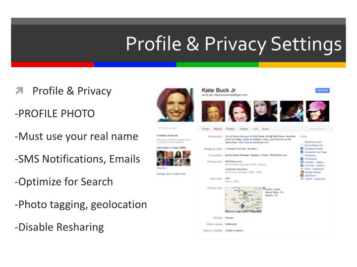 Profile & Privacy Settings