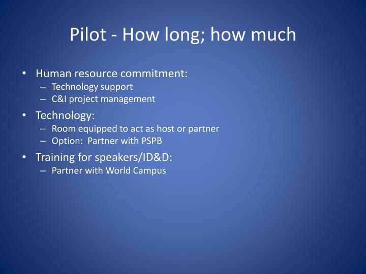 Pilot - How