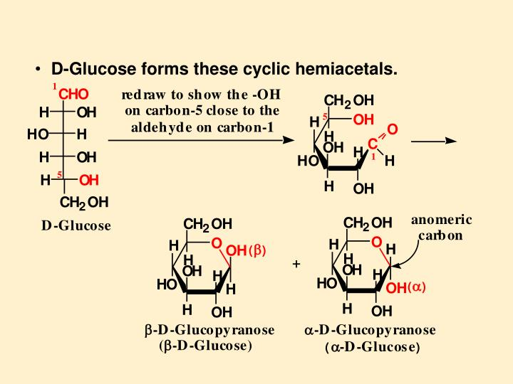 D-Glucose forms these cyclic hemiacetals.