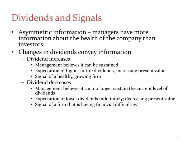 Dividends and Signals