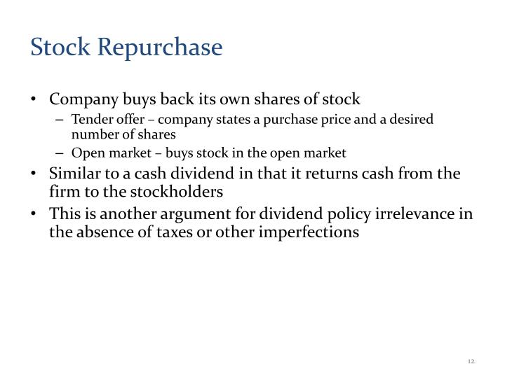 Stock Repurchase