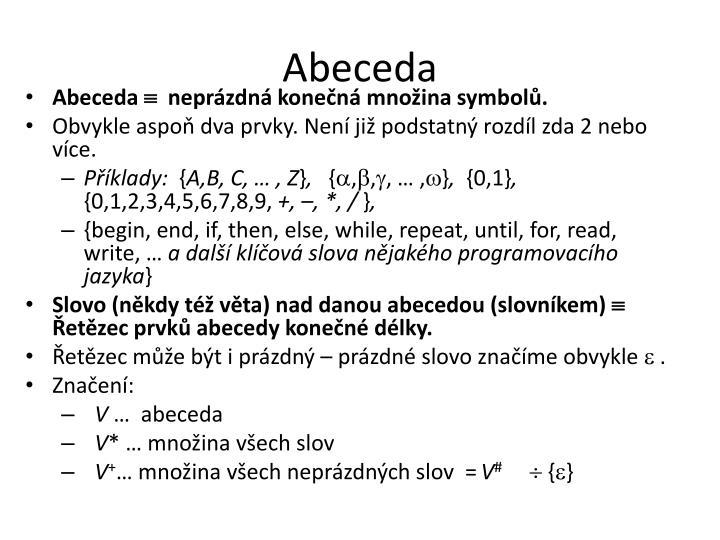 Abeceda