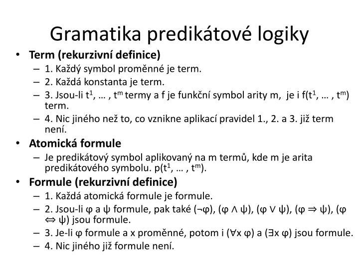 Gramatika predikátové logiky