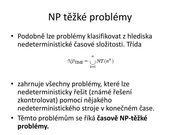 NP těžké problémy