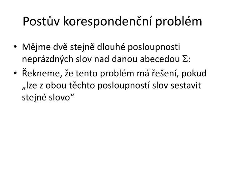 Postův korespondenční problém