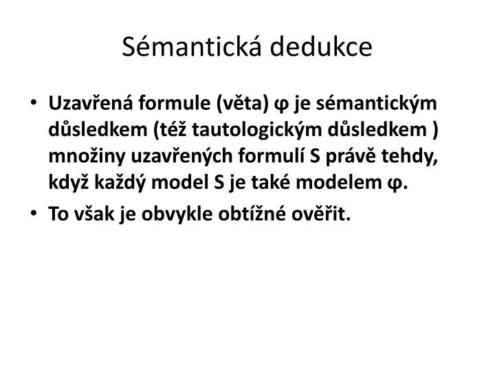 Sémantická dedukce
