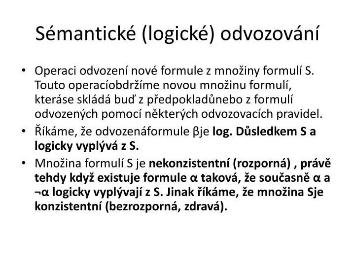 Sémantické (logické) odvozování