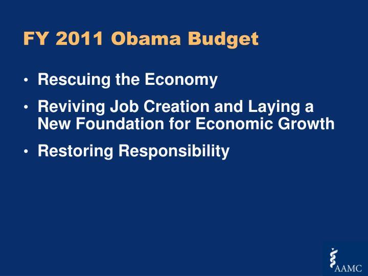 FY 2011 Obama Budget