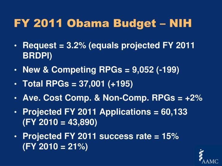 FY 2011 Obama