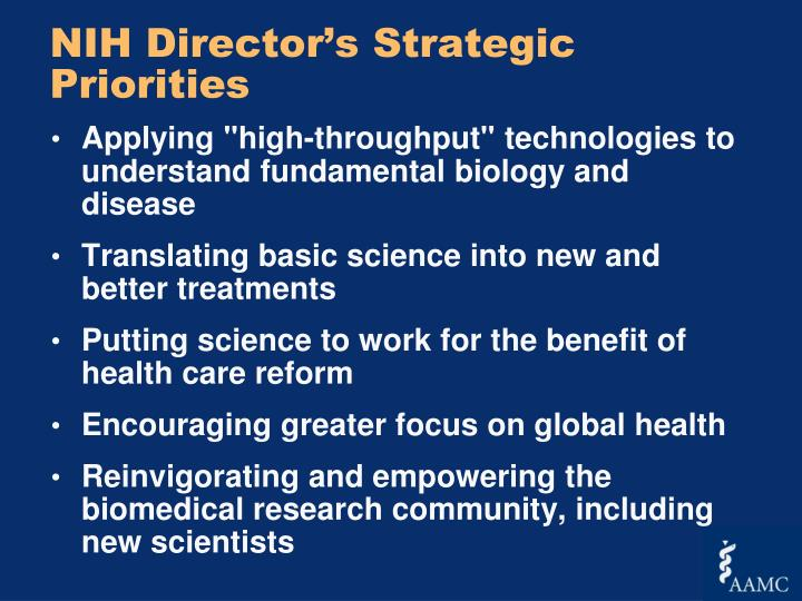 NIH Director's Strategic Priorities