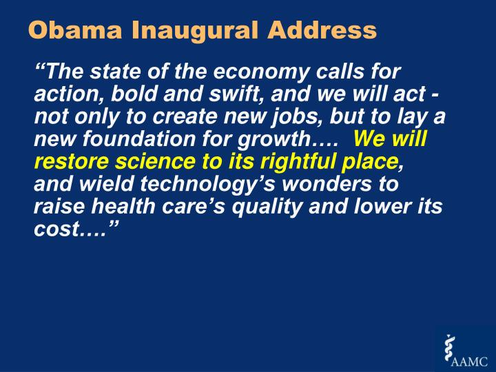Obama Inaugural Address
