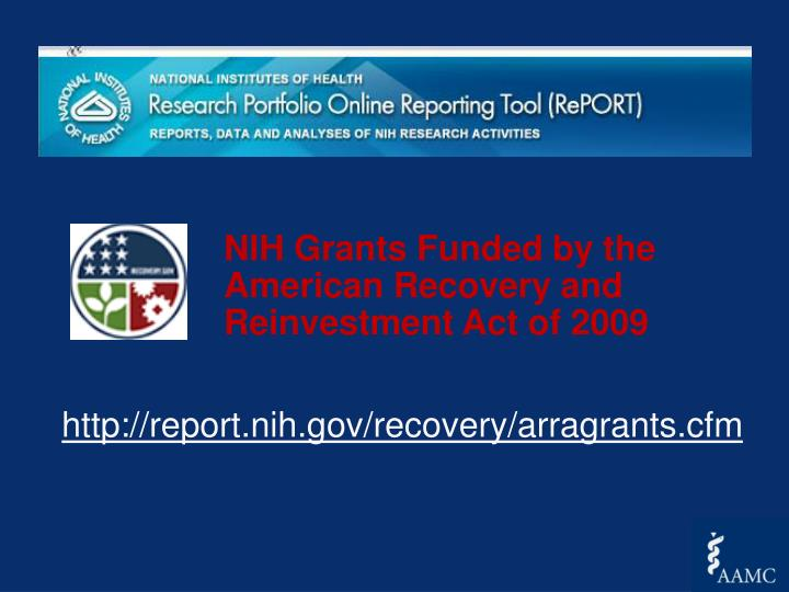 http://report.nih.gov/recovery/arragrants.cfm