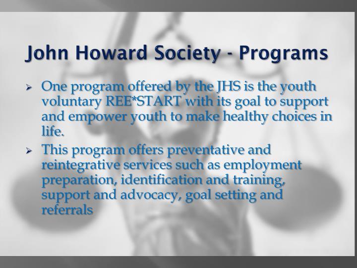 John Howard Society - Programs