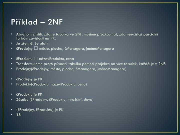 Příklad – 2NF