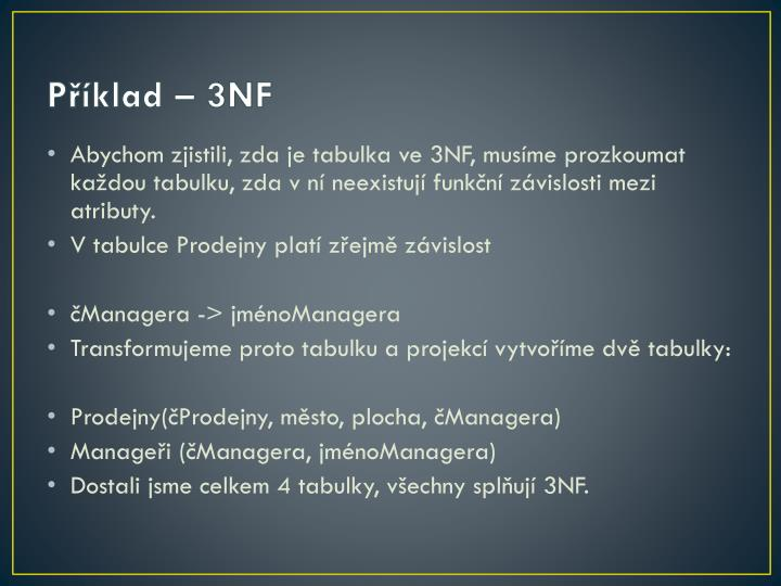 Příklad – 3NF