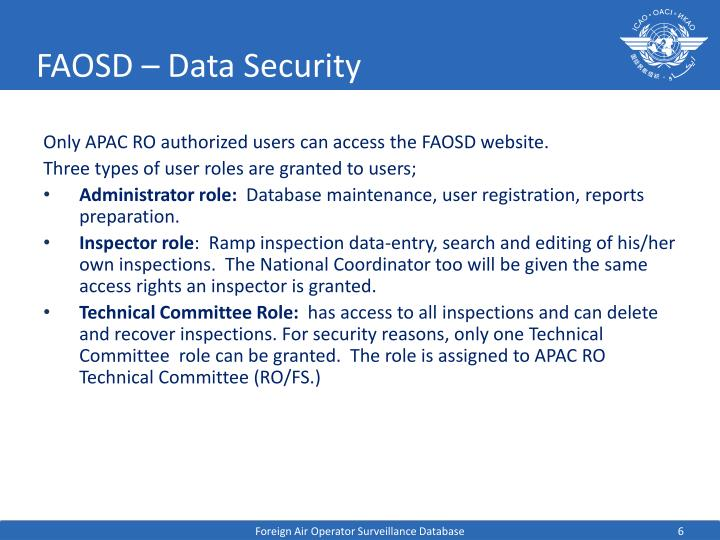 FAOSD – Data Security