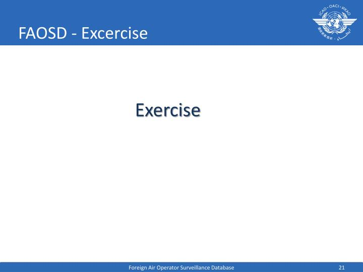 FAOSD - Excercise