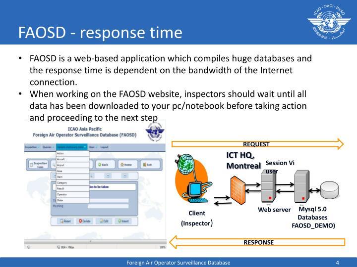 FAOSD - response time