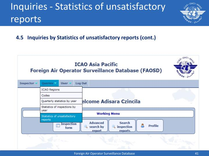 Inquiries - Statistics of