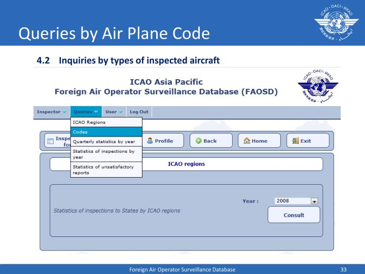 Queries by Air Plane Code