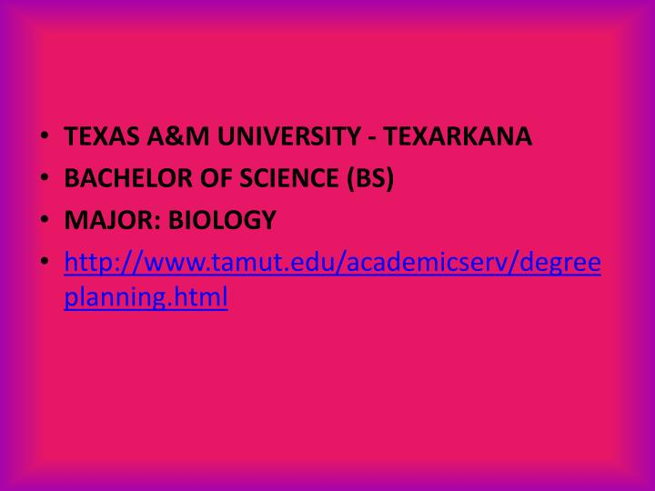 TEXAS A&M UNIVERSITY - TEXARKANA