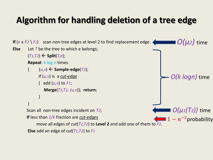 Algorithm for handling deletion