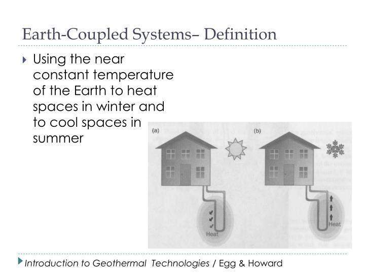Earth-Coupled Systems– Definition