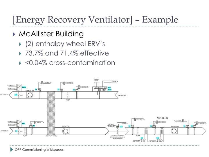 [Energy Recovery Ventilator]