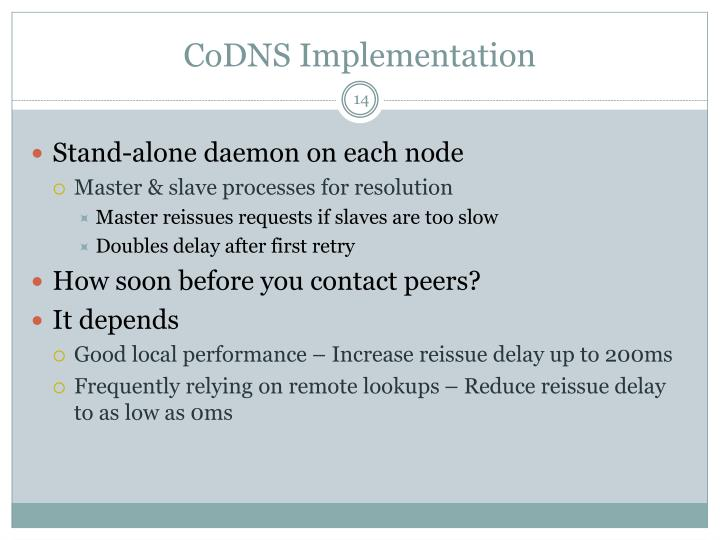 CoDNS Implementation