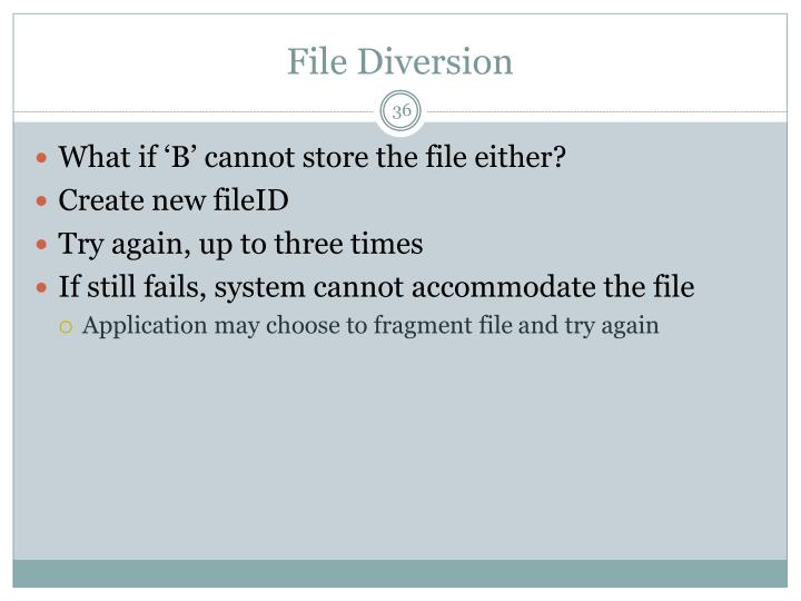 File Diversion