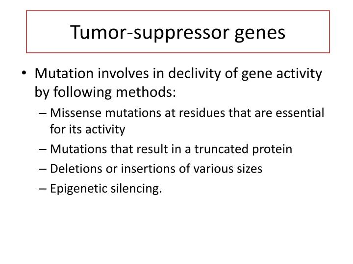Tumor-suppressor genes