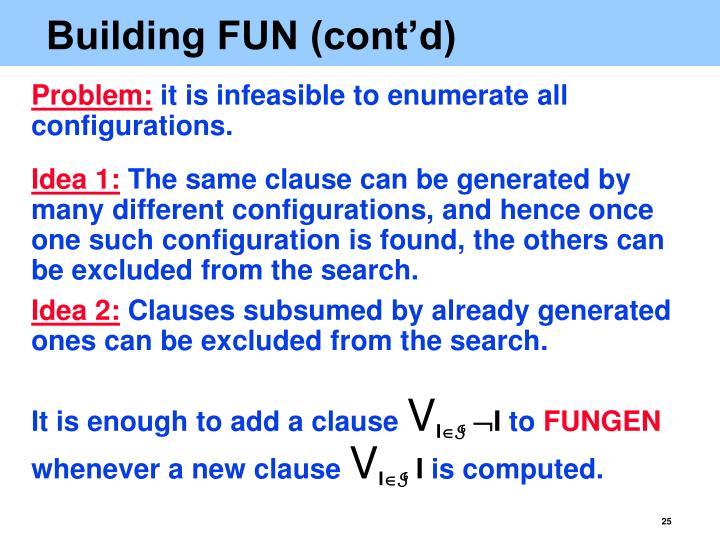 Building FUN (cont'd)