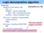 logic decomposition algorithm