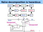 na ve decomposition is hazardous
