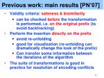 previous work main results pn 07