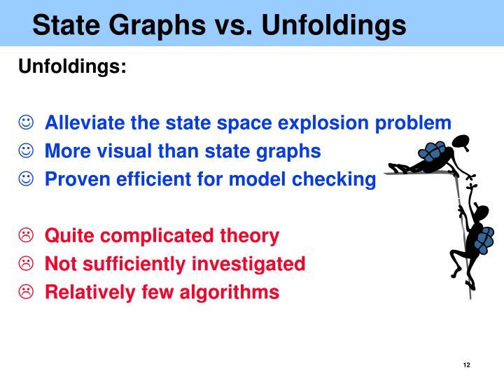 State Graphs vs. Unfoldings