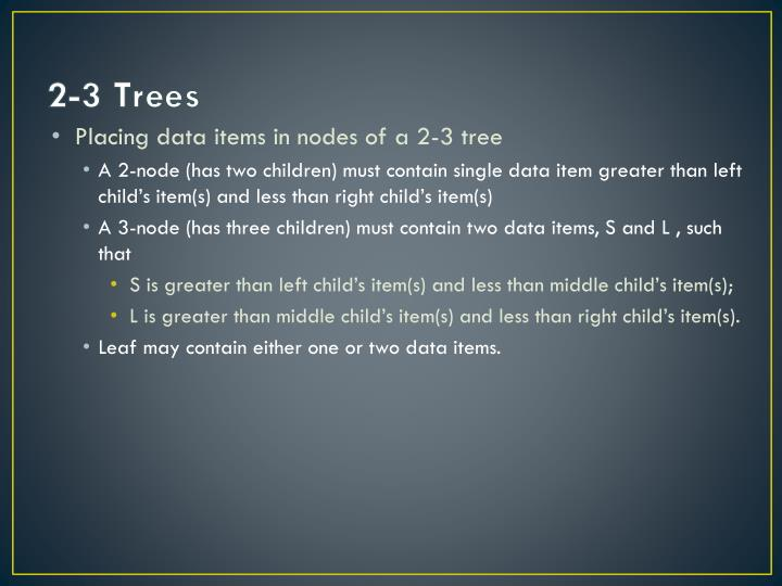 2-3 Trees