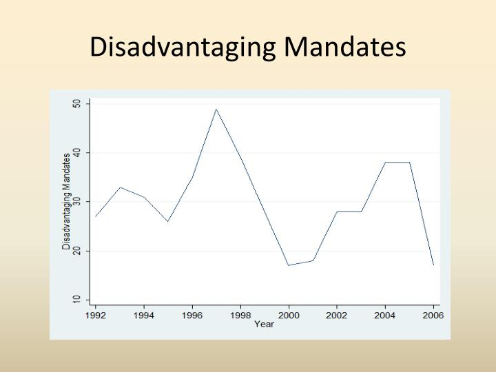 Disadvantaging Mandates