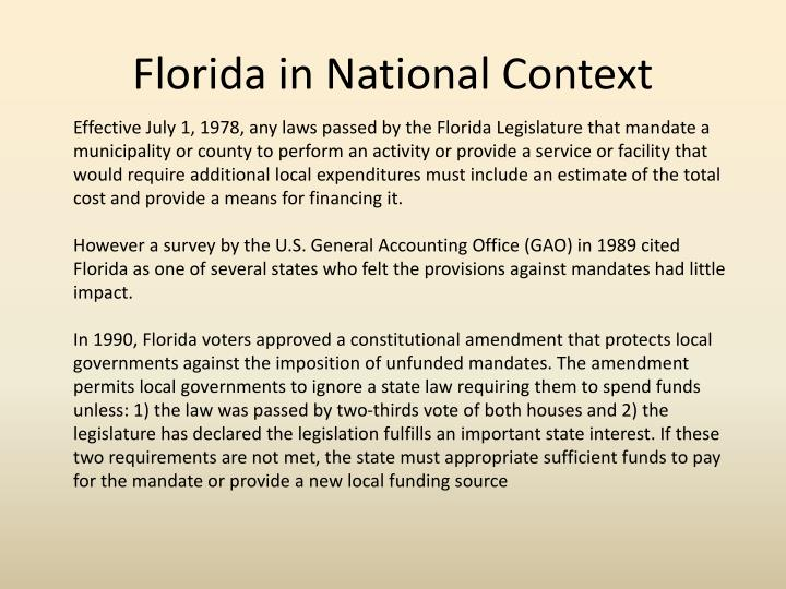 Florida in National Context